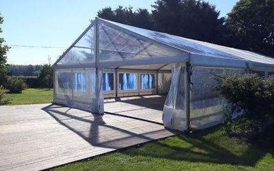 Chapiteaux Paucot et fils - Chapiteau 10 m mariage + terrasse